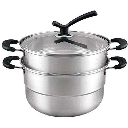 DAGUAI Accesorios de la olla de presión apilable de acero inoxidable inserte la olla de sartenes for con comida de alimento