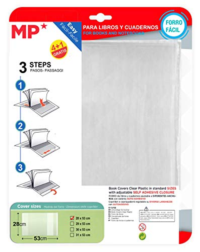 MP Pack de 5 Forros para Libros (28 X 53 CM)