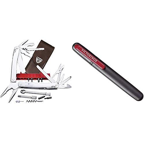 Victorinox Multifunktionswerkzeug Swiss Tool Spirit XC Plus Ratchet (36 Funktionen, Etui) Silber & Dual-Messerschärfer, Tragbar, Schleifstein für Grobschliff, Keramikplättchen für Feinschliff