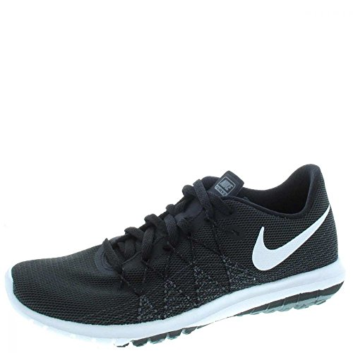 Nike Youth Flex Fury 2 Black Grey Mesh Trainers 39 EU
