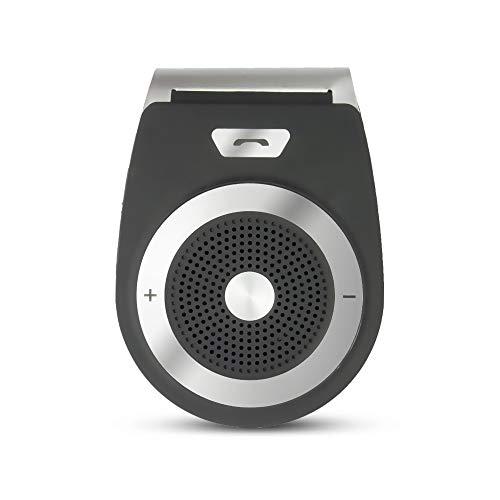 Kit Manos Libres Bluetooth para Coche sin Hilos para Smartphone y Altavoz-Negro