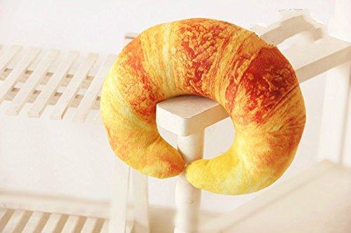 DIVISTAR Camarón Croissant Pimienta En Forma de U Cuello Almohada Cojín Cojín Peluche (Croissant)
