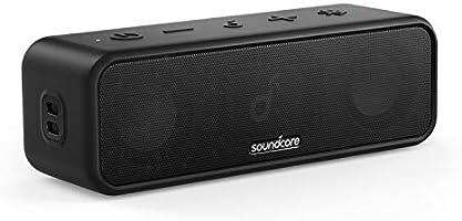 Anker Soundcore 3 Bluetooth スピーカー チタニウムドライバー デュアルパッシブラジエーター BassUpテクノロジー アプリ対応 イコライザー設定 USB-C接続 IPX7 防水 24時間連続再生...
