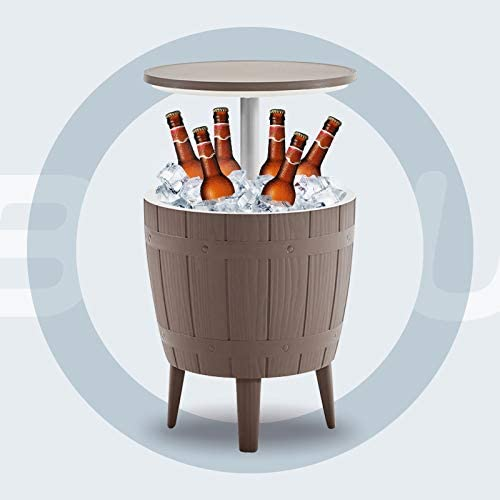 BLUU Outdoor Patio Cooler Bar Table Adjustable Height 3 in 1 Combines Cooler Cocktail Table product image