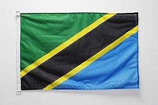 علم أريزونا علم تنزانيا 2 × 3 قدم للخارجية - أعلام تنزانانية 90 × 60 سم - لافتة 0.6 × 3 قدم محبوك من البوليستر مع خواتم