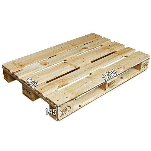 Dydaya 2 x Palets Europeos de1200 x 800 de Madera Lijados y Barnizados para Muebles y Decoración & Pallets para Cama, Somier, Estructura, Base (Madera - Barnizado, 2)