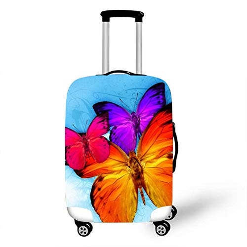 Trolley Case Protective Cover, DOTBUY 3D Print Premium Travel Suitcase Protector Elastic Anti-Scratch Dustproof Luggage Sleeve Cover Elasticized Washable (Butterfly,L (26-28 inches))