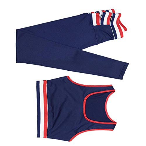 NHFGF Sportanzug für Damen, Sportbekleidung, Fitness-Set, Dry Fit, Leggings, BH, Yoga, Kleidung mit Polster Gr. M, königsblau