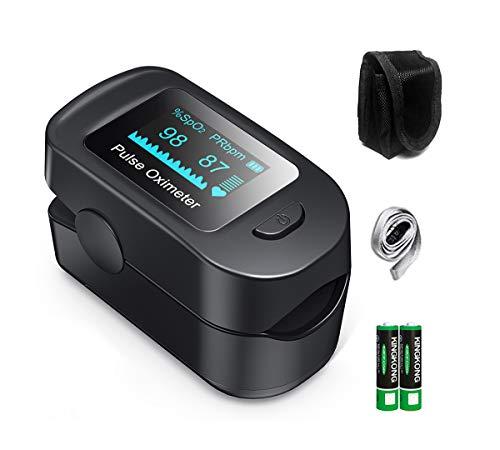 HYLOGY Oxímetro de Pulso, Pulsioxímetro de dedo, Lector de Pulso Digital de Lectura Instantánea,saturimetro de dedo con Pantalla OLED, operación con un solo botón.