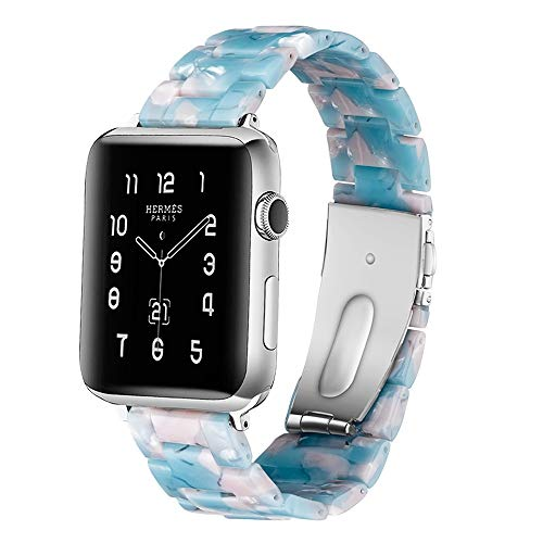 CHICAI Sport Band Compatible con Apple Seguir 38MM 40MM 42MM los 44MM, Resina Correa de reemplazo Compatible for Apple Seguir Serie 5/4/3/2/1 for Las Mujeres (Color : B, Size : 40mm)