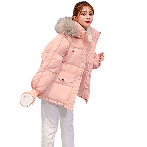 Metermall Home Winter vrouwen korte katoenen hoodie jas harige kraag effen kleur losse dame overjas
