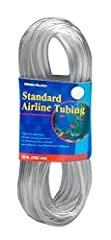 Safe for salt and freshwater aquatic environments.  Standard 3/16 inch diameter tubing is great for all your aquarium airline needs. Made from clear, flexible plastic.  This airline tubing is built to last and withstand wear and tear.  It is also res...