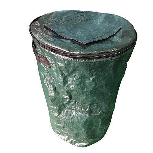 XMY Colapsable Compost Bin -Yard La Basura Puede con Cremallera de compostaje de residuos de fermentación Fruta de la Cocina Secretos Growers Bolsas para jardín Inodoro Compost Pail