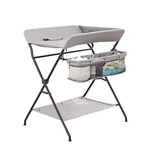 Commode Luiertafel baby opvouwbare multifunctionele Gray Bath Nursing Station Dresser Portable babybedje met Storage Shelf Baby wieg