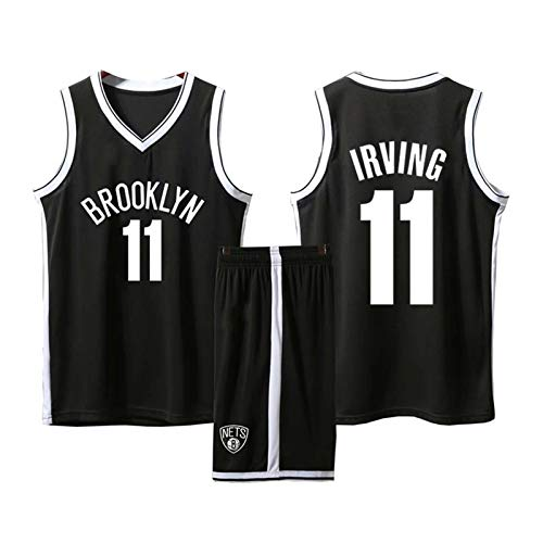GHYTR 11# iṙvinging Basketball Jersey Nĕt Camisetas al Aire Libre Camisetas de Baloncesto Juvenil Jerseys 90s Hip Hop Fashion Chaleco Black-XXL