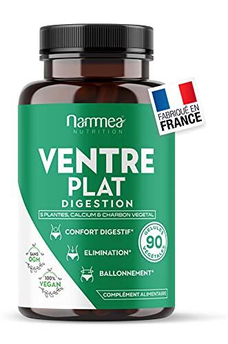 Spécial Ventre Plat Homme Femme - Transit - Ballonnement - Confort digestif - Elimination - Détox - Coriandre, Menthe Poivrée, Fenouil, Charbon, Ananas, Anis et Calcium - 90 gélules végétales