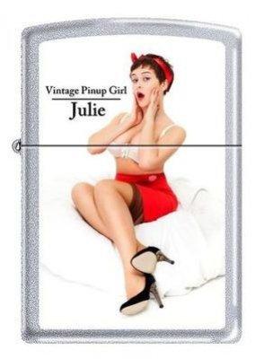 Zippo 2.002.956 Feuerzeuge Vintage Pin Up Girl Julie - Limited Edition 001/500-500/500 - MM - Collection 2012 - Satin Finish