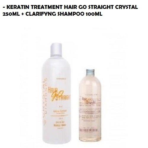 KIT LISSAGE BRESILIEN 250ML HAIR GO STRAIGHT CRYSTAL