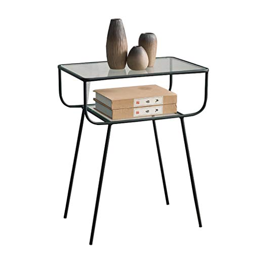 Nordic Fer Forgé Moderne Table Basse Créative Salon Simple Canapé Table D'appoint Table De Chevet Petite Table D'appoint (Couleur : Noir)