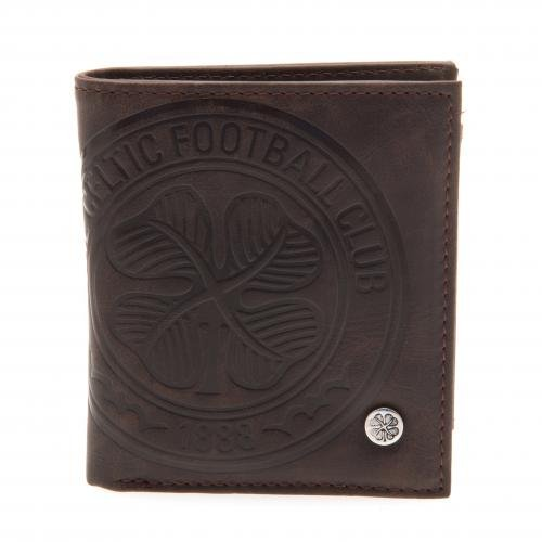 Celtic Football Club Official Soccer Gift Luxury Brown Faux Leather Wallet