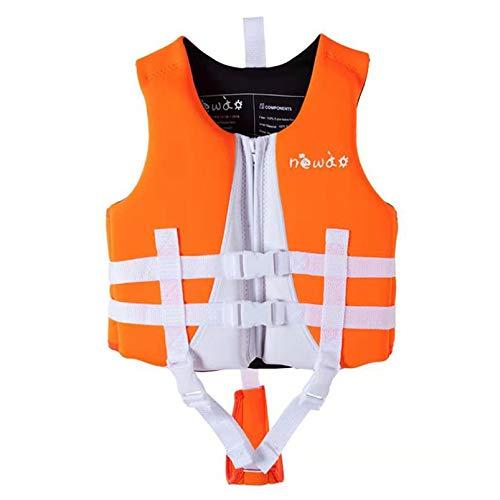 Yeah-hhi Chaleco Salvavidas De Natación Niños Deportes Acuáticos Playa Kayak Buoyancias Ayuda Vestir Chaleco para Rafting Natación Navegación Navegando,Naranja,XL