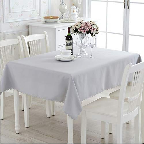 La Mode Rechteckige Stofftischdecke abwaschbar Tischdecke für Konferenztisch Couchtisch Restaurant Grau, 140x220cm