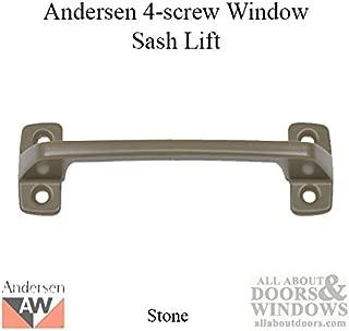 Andersen Window - Double Hung Window Sash Lift/Handle, 4 screw holes - Stone