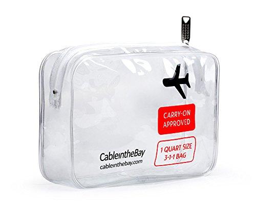 tsa toiletry bags TSA Approved Clear Travel Toiletry Bag-Quart Sized with Zipper-Airport Airline Compliant Bag/Bottles-Men's/Women's 3-1-1 Kit+Travel (1 PACK)