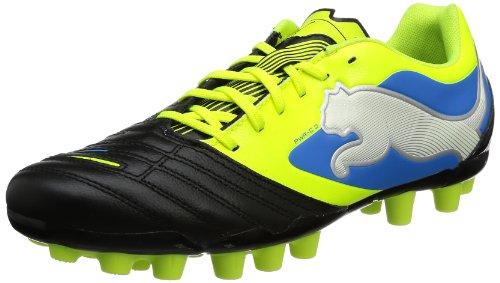 Puma PowerCat 3 r MG 102797, Herren Fußballschuhe, Schwarz (black-fluo yellow-white-brilliant blue 03), EU 43 (UK 9) (US 10)