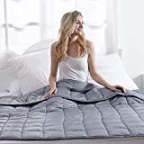 Waowoo Adult Weighted Blanket Queen Size(15lbs 60'x80') Heavy Blanket with Premium Glass Beads (Dark Grey)