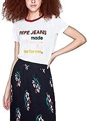 Camiseta Pepe Jeans Aurora Blanco de Manga Corta para Mujer