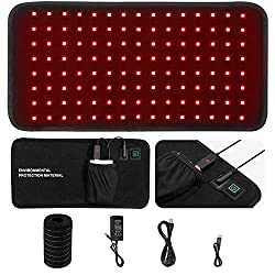 Red Light Therapy Belt - 660nm of Red Light and 850nm of Near Infrared Light for Human & AnimalsLED Waist Pain Remove Neck Support Portable Relieves Different Muscle Groups and Portabl