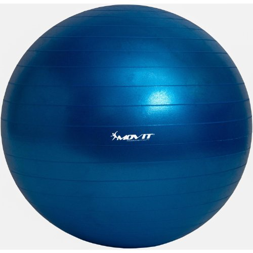 Movit Gymnastikball »Dynamic Ball« inkl. Fußpumpe, 85 cm, Blau, Maximalbelastbarkeit bis 500kg, berstsicher, Fitness-Ball, Sitzball, Yogaball, Pilates-Ball, Balance