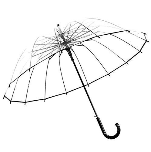 GTWP GTWP GT Regenschirm automatische Weise Transparent, gerade Stange, Dicke Eva Fabric Halbautomatische Regenschirm Stockschirm Robuste Winddicht Anti-UV-Sonnenschutz Dach