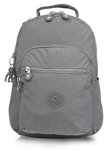 Kipling womens Seoul Laptop Backpack, Dusty Grey Rim, One Size