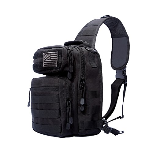 Eyourlife Tactical Sling Bag Military Rover Small Shoulder Sling Pack Small for Outdoor...