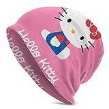 Kitty Pink Adult Men 's Knit Hat Multifuncional Ligero Casual Beanie Hat Skull Cap Soft Light Transpirable Unisex Sombreros