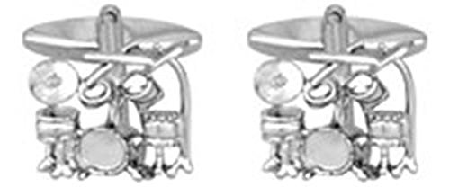 Drum Kit Rhodium plattiert Manschettenknöpfe