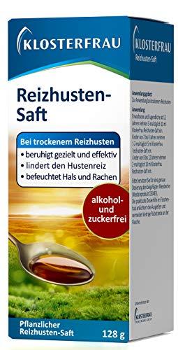 Klosterfrau Reizhusten-Saft/Natürlich lindernder & befeuchtender Hustensaft mit Isländisch Moos gegen trockenen Reizhusten, 128 g
