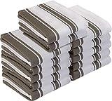 Utopia Towels - Lot de 12 torchons de cuisine coton, serviettes de cuisine - 38 x 64 cm, Gris