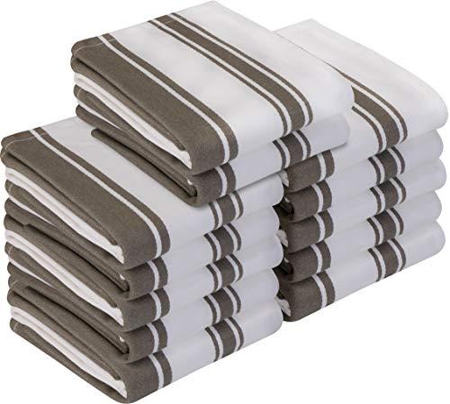 Utopia Towels - 12er Pack Geschirrtuch Küchentücher aus Baumwolle, 38 x 64 cm (Grau)