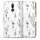 DeinDesign Étui Compatible avec Huawei Mate 10 Lite Étui Folio Étui magnétique Fleurs Produit...