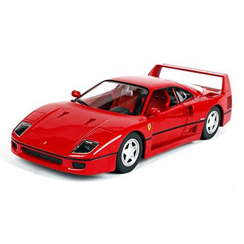 Penao Ferrari F40 Voiture de Sport en Alliage Voiture Modèle de Simulation, Ornements de Modèle d'Automobile, Ratio 01:24
