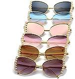 Gafas de sol polarizadas clásicas para mujer, protección UV 400, marco superlight con lente de policarbonato para mujeres y mujeres (color: no 5 tamaño: tamaño libre), no.5, Talla única