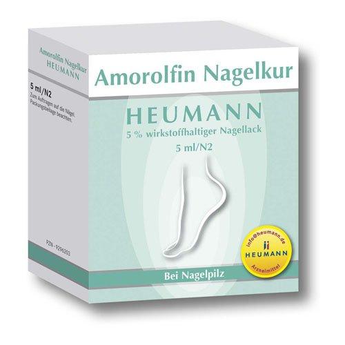 AMOROLFIN Nagelkur Heumann 5% wst.halt.Nagellack 5 ml Wirkstoffhaltiger Nagellack