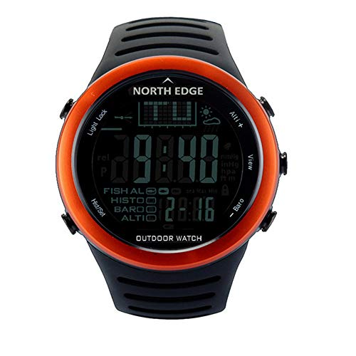 RENYAYA North Edge Smart beobachtet Männer im Freien Sportuhr wasserdicht Angeln Altimeter Barometer Thermometer Altitude Stunden