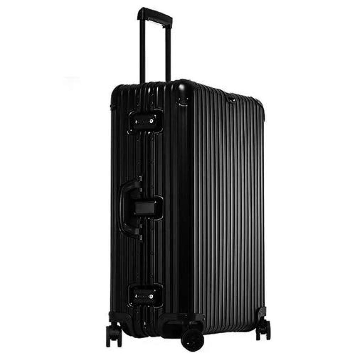 有彩色のテナントヘロインスーツケース (RXO) アルミ合金ボディ マット加工 耐食耐久 軽量 無段階調節 キャリーケース 出張 旅行 機内持ち込み可 大容量 TSAロック 静音8輪 日本語取扱説明書