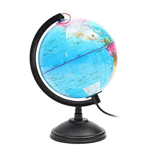 SCKL Globus Ledlamp, wereldbol met houder voor kinderen, geografie gereedschappen, studio-cadeau voor kinderen