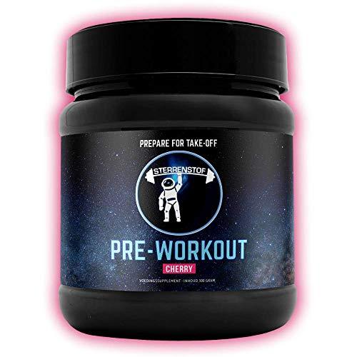 Stardust Pre Workout Booster – hochdosierter Booster mit Beta Alanin, Taurin, Koffein, L- Aminosäuren, für den idealen Push vor jedem Workout und Training, 40 Portionen (Cherry)