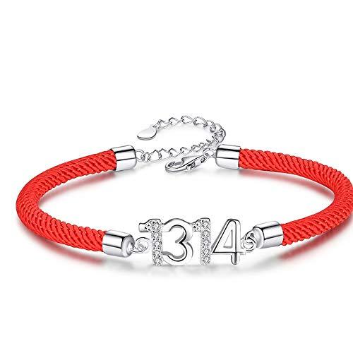Red String Bracelet Female Sterling Silver Simple Silver Jewelry Girlfriends Hand String Bracelet For Girlfriend